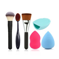 Wholesale Paint Offers - Black Wood Powder paint Makeup brush toothbrush 163 makeup brush Puff and Egg wash combination Manufacturers offer