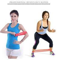 bandas de ejercicios de yoga al por mayor-Récord de calidad Conjunto de bandas de resistencia de goma Ejercicio físico banda de entrenamiento elástica para yoga Pilates banda crossfit culturismo ejercicio