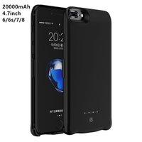 Wholesale Battery Charger Case Cover - Power Bank Charger Battery Case 20000mAh for iPhone 4.7inch Backup External Battery Powerbank Cover for iPhone 6 6s 7 8