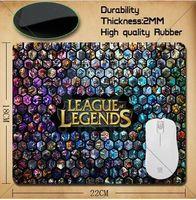 Wholesale Mouse League - League of Legends LOL whole League pattern Mouse Pad 220*180*2mm of s 2 mouse mat+ Free Shipping
