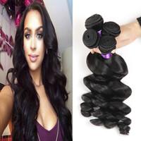 Wholesale Wholesale Premium Human Hair - Peruvian Hair Weave Bundles Loose Wave Human Hair Products Sale 3Pcs Cheap Premium Now Hair Extension Weft Remy