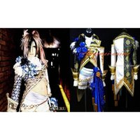 Wholesale Sexiest Outfit Japan - Free Shipping Gothic Versailles-Teru Costume Japan Visual Rock Outfit Cosplay Costume Custom-Made