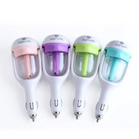 Wholesale retail essential oils - Car Humidifier Essential Oil Diffuser Car Humidifier Air Aroma Aromatherapy Purifier Essential Mist Maker with Retail Package