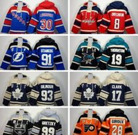 All'ingrosso - Youth Hockey Hoody Lightning 91 Steven Stamkos LA 99 gretzky Pullover bambini Maglie blu 2017 Nuovo Lace Up Top Brand di vendita Childr