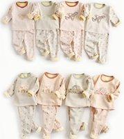 Wholesale Set Velvet Baby Boy - Baby Kids Pajamas sets Nighty Warm velvet Thicken Sleepwear Winter Homewear Cartoon Print Tents Boy Girls clothing 22 Colors 2017 1-4years