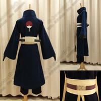 Wholesale Naruto Costume Tobi - Anime Costume NARUTO Akatsuki Ninja Tobi Obito Madara Uchiha Obito Cosplay Costume With Helmet