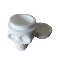 Wholesale Wholesale Large Tub - 20 X Large Silicone Jars Dab Wax Container Skull Shape Oil Slicks Container Bho Silicon Box Tub Jar Wax New