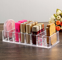 Wholesale Acrylic Plastic Products - 8 drawer Acrylic Makeup Cosmetics Organizer Jewelry Case For Lipstick Nail Polish Brushes Cosmetic Beauty Products