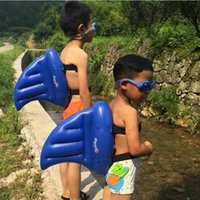 Wholesale Life Float Ring - Kid Water Toys Learning To Swim Artifact Shark Fins Copycat Inflatable Upset Children Swimming Pool Life Buoy Floats Swimming Rings