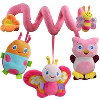 Wholesale Infant Lathe Hanging Toys - Wholesale Animals Infant Toys Baby Crib Revolves Around Bed lion Stroller Toy car Lathe Hanging Bee Baby Rattles Music 0-12 Months