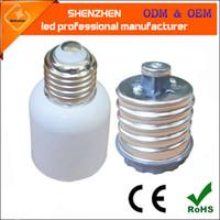 e26 e27 luces led de base al por mayor-E26 E27 Bases de lámpara Nuevo LED Bombilla halógena CFL E40 a E27 Adaptadores de lámpara Convertidores E39 E40 zócalo de luz de calle de maíz