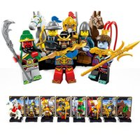 Wholesale Horse Chinese Year - Romance of Three Kingdoms Minifigure Chinese Ancient Solider War Horse Model Building Block Toys Enlighten
