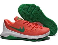 Wholesale Cheap Ticking - Cheap Kevin Durant KD 8 Basketball Shoes V8 Bright Crimson With Tick KD8 Sports Shoes Discount Leather Men Basketball Sneakers free shiping