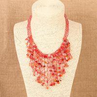 Wholesale Black Coral Gem - Original Bohemia Statement Choker Fashion Charms 100% Natural Coral Stone Gem Collar Necklaces&Pendants Women Fine Jewelry Christmas gifr