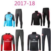 Wholesale Football Training Jackets - top quality 2017 18 OZIL survetement Football jacket soccer tracksuit Alexis Maillot de foot RAMSEY GIROUD LACAZETTE jacket Training suit
