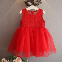 online shopping Korean Wedding Dress Full - halloween Girl Dress 2016 wedding dresses vintage Girls Dress Children Dress Korean party dresses Girls Lace Dress 3-7Year Kids Clothing