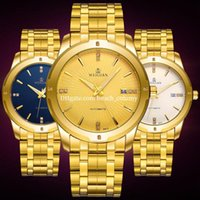 Wholesale Calendar Accessories - Luxury watches High-end gold steel automatic hollow fashion business mechanical calendar men waterproof watches Wristwatches Accessories