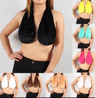Wholesale Breasts Halter - TATA Towel Women's Sexy Soft Ta Ta Cotton Bra Boob Sweat Dripping Towel Tops Women breast-feeding Breast KKA2743