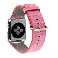 2016 Novo Arrvial para Apple Watch Band Tecido Nylon Band of Layers Bracelete de pulso Strap Watchband Metal Classic Buckle Com adaptador OTH212