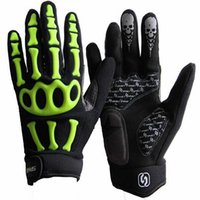 Wholesale Cycling Skeleton Gloves - 2016 bicycling gloves Riding gloves Skeleton joint bike mountain bike Bodybuilding outdoor sports racing Cycling gloves 69