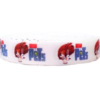 Wholesale Printed Webbing Wholesale - 7 8 inch 22mm New Pets Cartoon Movie Printed Grosgrain Ribbon Handmade Hairbows Craft Webbing Accessory 50Yds lot Free Shipping