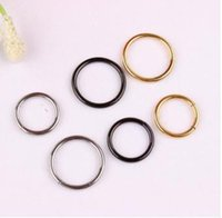 Wholesale Nails Lip Ring - Steel color black golden silence without aperture nose rings Stainless steel nose ring ear bones nailed a lip piercing earrings