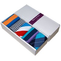 Wholesale Wholesale Red Striped Socks - Free Shipping combed cotton brand men socks,colorful dress socks (5 pairs   lot ) no gift box