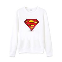 Wholesale Superman Long Jacket - for men and women superman sweatshirt pullover Programmers round neck clothes autumn srping lover long-sleeved jacket