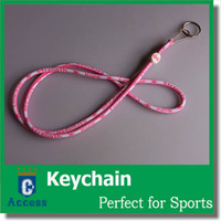 Wholesale Breast Cancer Key Chains - 2017 NEW WOMEN Pink LANYARD KEY CHAIN breast cancer awareness LANYARD