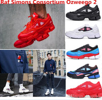 Wholesale White Ankle Boot Womens - 2016 newest top quality Raf Simons Consortium Ozweego 2 Fashion Sneakers Mens and Womens Running Shoes Black White Red Size US5-US11