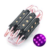 5050 SMD Black PCB 3LEDS Injection LED Modules DC 12V Waterproof Light Publicité Publicité Small Order 100pcs