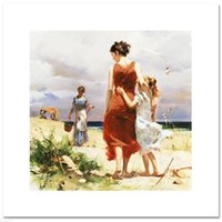 """Wholesale impressionism arts - Pino""""Breezy Days"""",Framed Pure Hand-painted Impressionism Art oil painting on canvas For Wall decor Multi sizes Free Shipping"""