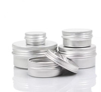 Wholesale Wholesale Empty Cosmetic Bottles - Empty Aluminum Cream Jar Tin 5 10 15 30 50 100g Cosmetic Lip Balm Containers Nail Derocation Crafts Pot Bottle