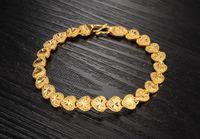 Wholesale Bracelet Link Types - exquisite plating 18K Gold Bracelet love heart Flower type wedding the bride Jewelry 10pcs lot