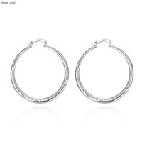Wholesale Cheap Silver Hoop Earrings Wholesale - Fashion hoop earrings 925 silver jewelry diameter 4cm classic charm design cool street style Europe Hot free shipping Cheap Wholesale