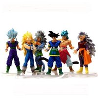 Wholesale Wholesale Dbz Action Figures - 6inch Dragon Ball DBZ Anime Goku Vegeta Piccolo Gohan super saiyan Joint Movable dragon ball z action figures Toy Free shipping E1725
