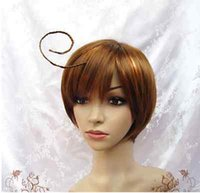 Wholesale Hetalia Wigs - 100%Hot Sell Brazil dark-haired woman wig cosplay Heat Resistant synthetic>>>>cosplay Axis Powers Hetalia APH South Italy Lovino Vargas wig