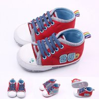 Wholesale cool shoes for girls - New Arrival Cool Canvas Sport Shoes Toddler Baby Walking Shoes For Girl and Boy Casual Shoes Retail Wholesale