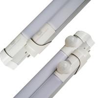 floresan ışık fikstürleri t8 toptan satış-2ft 3ft 4ft 5ft Kızılötesi Hareket Sensörü LED tüp T8 PIR hareket sensörü LED T8 LED tüp ışıkları 18 W Floresan işık fikstürü