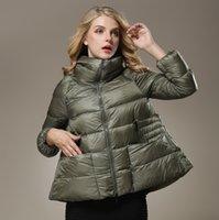 Wholesale Xl Women Down Cape - Wholesale- New Winter Clothing Women Eurameriacn Fashion Turn-Down Collar Cape Coat Casual Loose Plus Size Down Jacekt Overcoat WJ2143