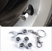 Wholesale Volkswagen For Sale - New Hot Sale Car Wheel Tire Valve Caps with Mini Wrench & Keychain for VW Volkswagen (4-Piece   Pack)