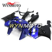 kit de carenado moto zx7r al por mayor-Carenados completos para Kawasaki ZX7R 1996 - 2003 93 - 03 ABS Cascos Kit de carenado de motocicleta Carrocerías Cubiertas azules negras