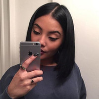 Wholesale 12inch Human Hair Wigs - Short Bob Wigs 3 Style Unprocessed Peruvian Lace Front 8-12inch Bob Wigs Glueless Short Full Lace Human Hair Bob Wigs For Black Women