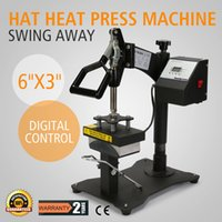 "Wholesale Machine Digital Sublimation - Digital Swing Away Hat Ball Cap Heat Press Transfer Sublimation Machine Curved Element (6"" x 3"")"