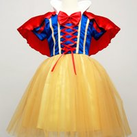 Wholesale Children Playing Snow - Children Cosplay Clothes Snow White Role Play Dresses Special Occasions Festival Girls' Dress Halloween Christmas Masquerade Party Stage Cos