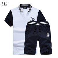 Wholesale Mens Summer Hoodie - Wholesale-Brand Sweatshirt Men Hoodies Fashion Summer Hoodie Mens Sports Suit Pullover Men's Tracksuit for Men Suit Moleton Masculino 811
