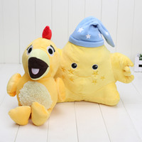 Wholesale Wholesale Sunny Baby - EMS 26cm   30cm baby toys Yellow star Sprout The Good Night Show The Sunny Side Up Show chica and Star with Night Cap Plush toys