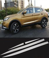 Wholesale Door Side Molding Trims Chrome - ACCESSORIES FIT FOR 2016 NISSAN QASHQAI CHROME DOOR SIDE LINE GARNISH BODY MOLDING COVER PROTECTOR TRIM