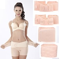 Wholesale Women Belly Slimming Belt - 2016 new women postpartum recovery corset belly waist pelvis belt slimming body support band 3 in 1