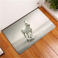 Wholesale horse bathroom - New Anti-Slip Carpets Horse Print Mats Bathroom Floor Kitchen Rugs Home Living Room Floor Mats 40X60 50X80 cm